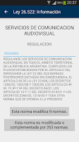 Screenshot of Ley Argentina