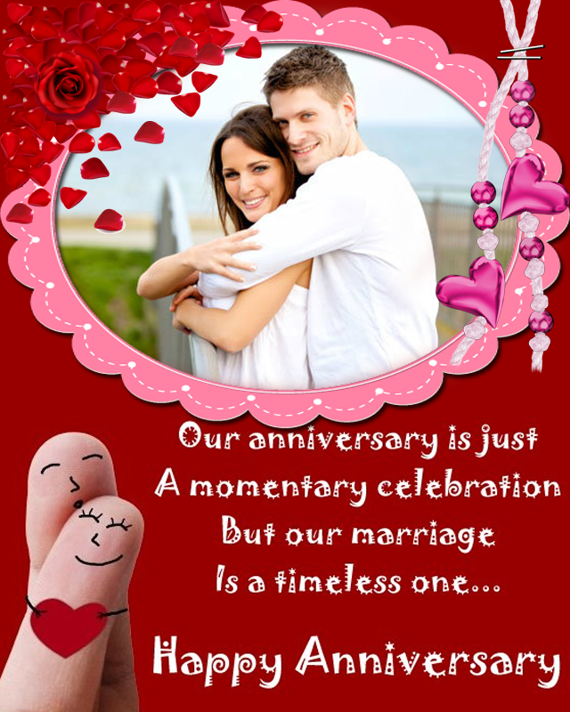 Wedding anniversary photo frames online editing