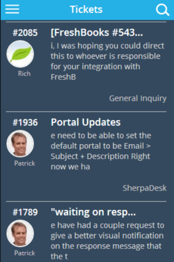 SherpaDesk Customer Support- screenshot