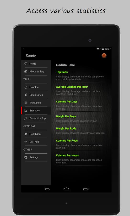 Carpio carp fishing tracker android apps on google play for Fish tracker app