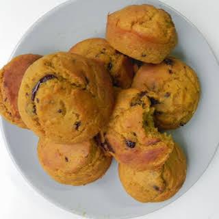 Dark Chocolate-Chip Pumpkin Muffins.