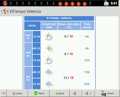 El tiempo valencia android apps on google play - El tiempo en catarroja valencia ...