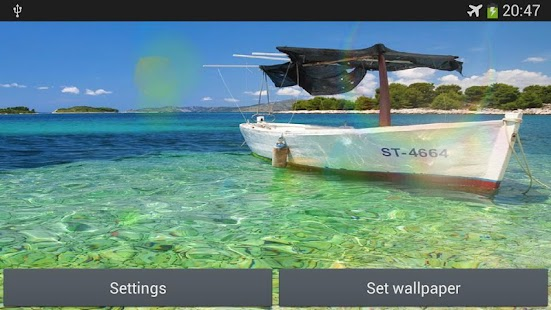 Boat on the sea live wallpaper - screenshot thumbnail