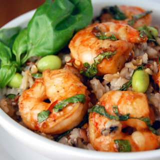 Chili Basil Shrimp w/ Edamame Rice & A GIVEAWAY! (CLOSED)