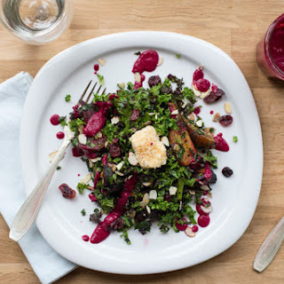 Kale Salad with Roasted Beet Dressing.