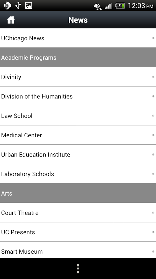UChicago - screenshot