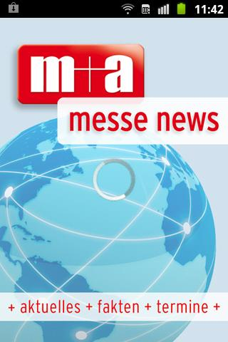 m+a messe news + messe termine- screenshot