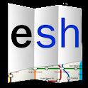 Explore Shanghai metro map logo