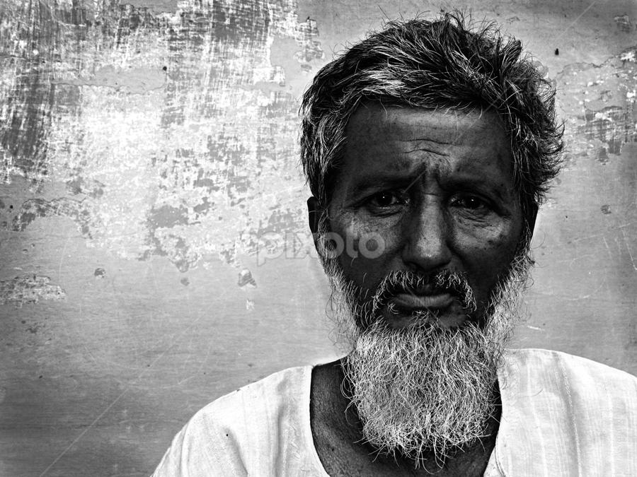 Words Unspoken !  by Rupam Chakraborty - Black & White Portraits & People ( monochrome, still life, street, portraits, people,  )