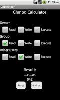 Screenshot of CronJob & Chmod Calculator