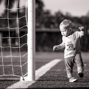 Goal by Nemanja Stanisic - Babies & Children Toddlers ( child, field, yard, football, sport, home run, run, dusk, boy, soccer, kid )