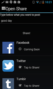 Open Share- screenshot thumbnail