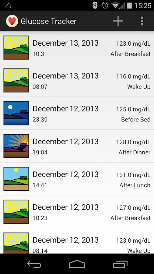 Glucose Tracker - screenshot