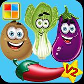 Vegetable Puzzle Flashcards V2