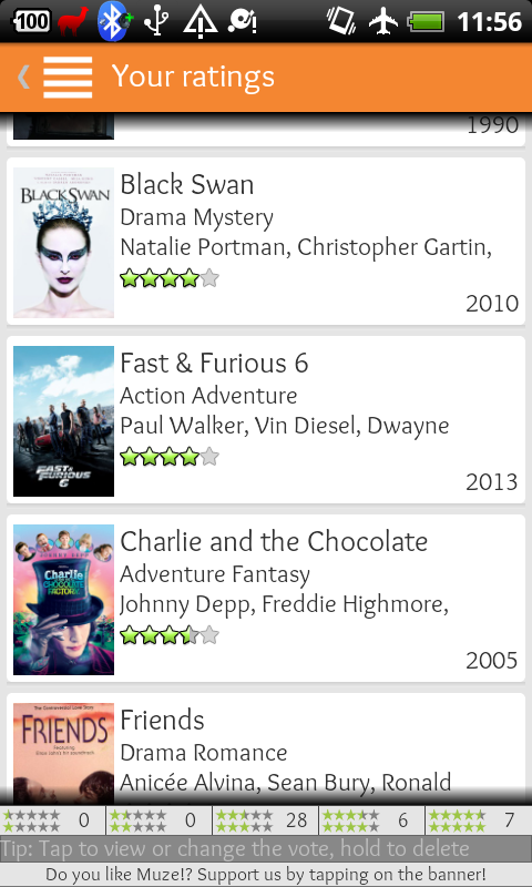 Muze free - Movies recommender- screenshot
