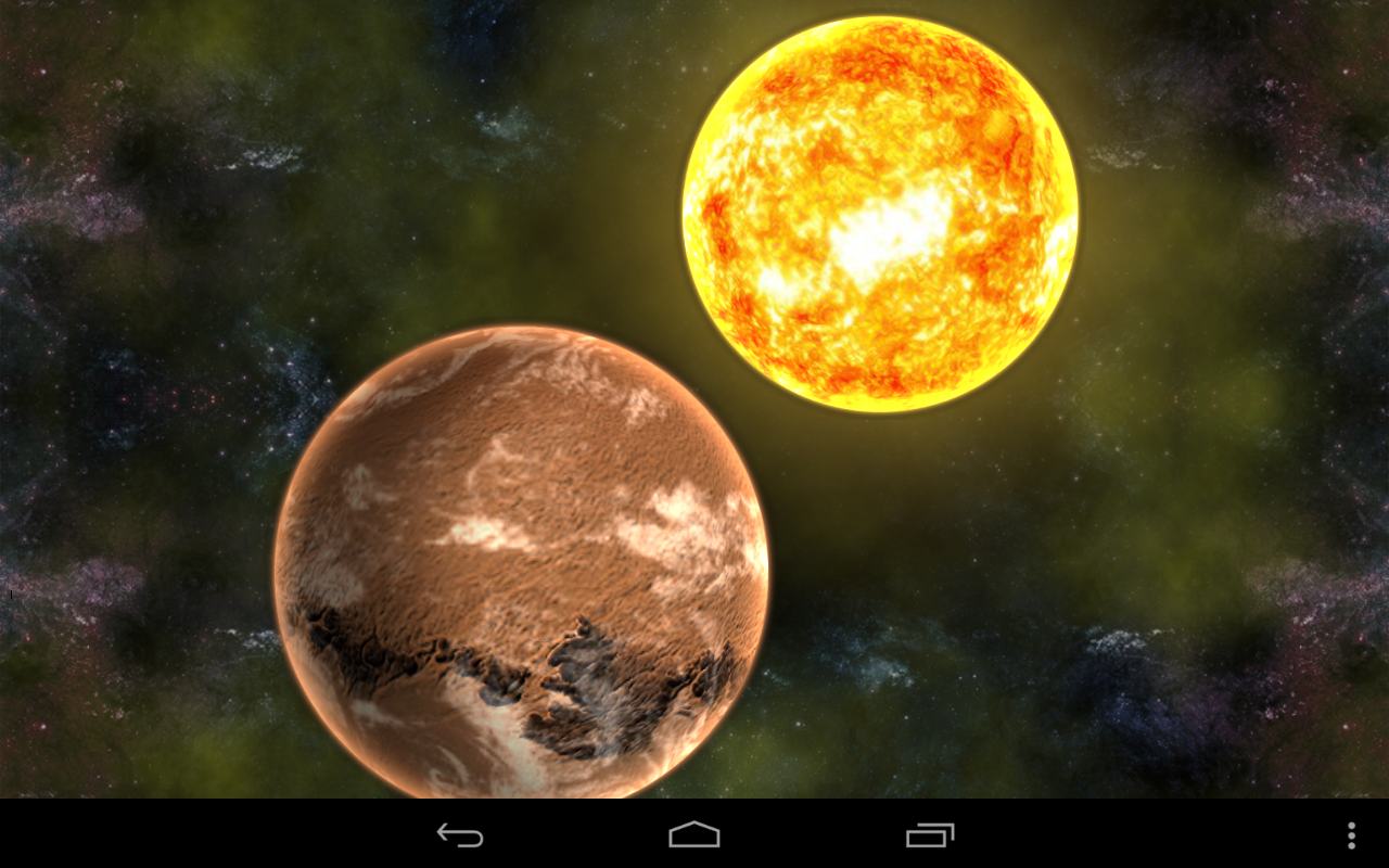 Gmail planets theme - Planets In Universe Wallpaper Screenshot