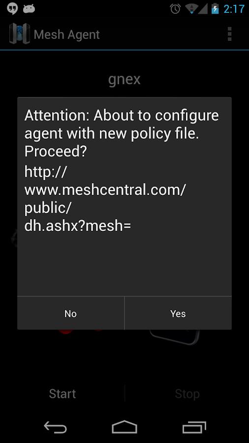 Meshcentral.com agent - screenshot