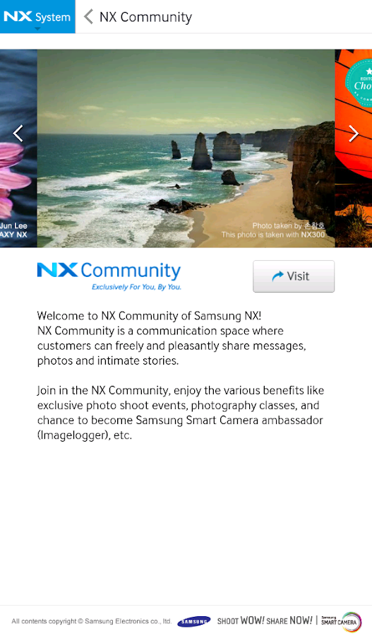 Samsung SMART CAMERA NX - screenshot