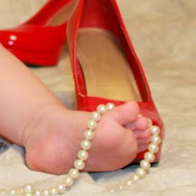 My Red High Heels by Sabrina Franks - Babies & Children Hands & Feet