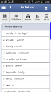 English - German Flashcards - screenshot thumbnail