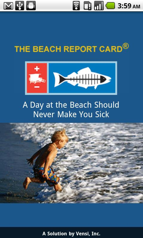 BeachReportCard- screenshot