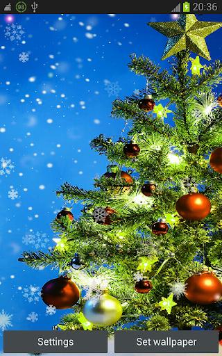 Nice Xmas Tree hd lwp