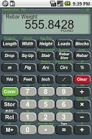 Screenshot of ConcreteCalc Pro Calculator