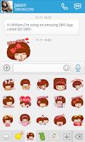 Screenshot of GO SMS PRO MOCMOC STICKER