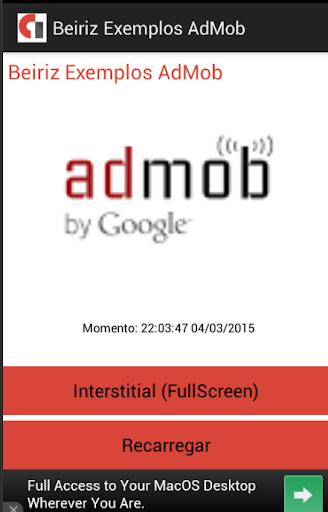 Exemplos AdMob