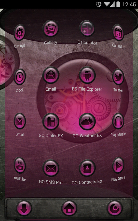 Next Launcher Theme SteampunkP - screenshot