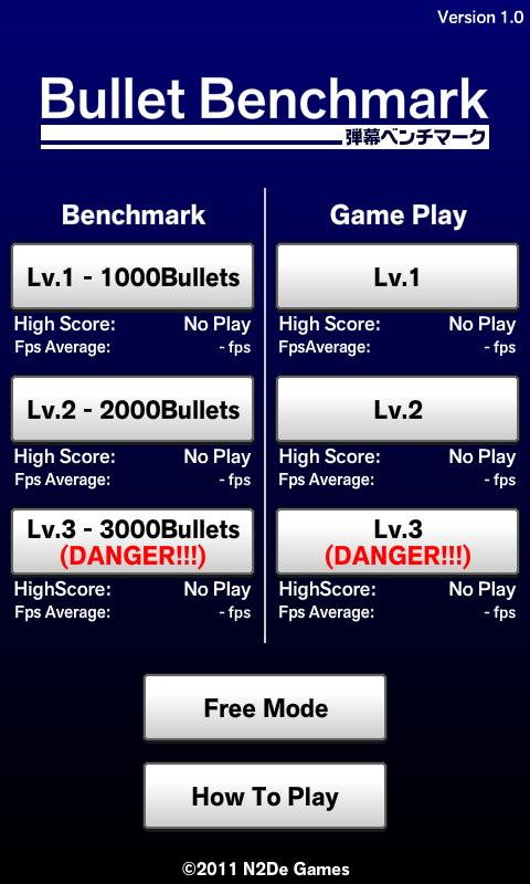 Bullet Benchmark- screenshot