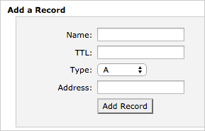 Add a record form