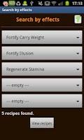Screenshot of Skyrim Alchemist