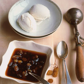Ice Cream with Rum-Raisin Sauce
