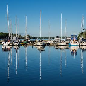 Gananoque Marina by Steve Hall - City,  Street & Park  Vistas ( thousand islands, marinas, ontario, gananoque )