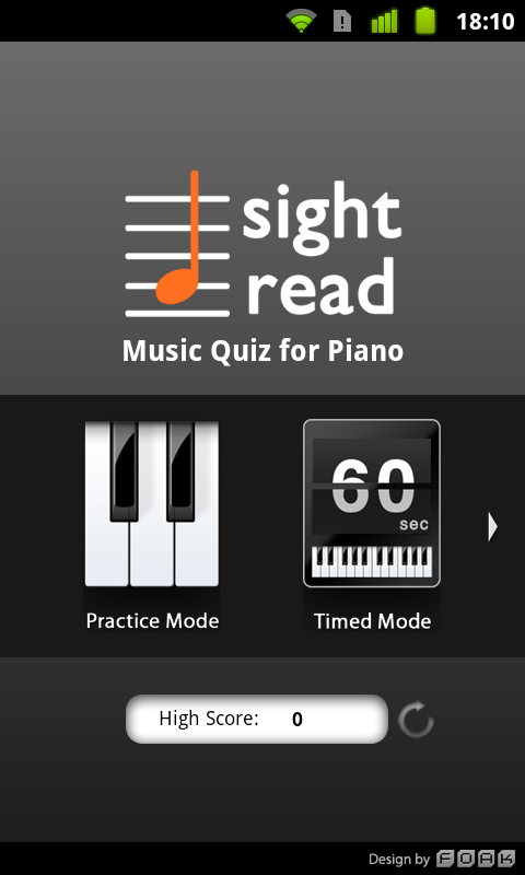 Sight Read Music Quiz 4 Piano - screenshot