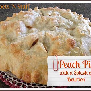 Peach Pie with a Splash of Bourbon