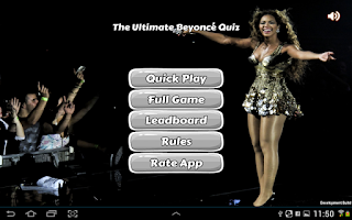 Screenshot of Ultimate Beyoncé Quiz