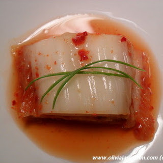 Korean Kimchi (Fermented Spicy Cabbage)