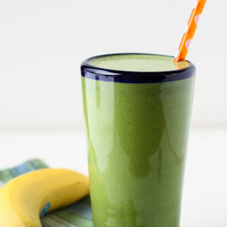 Spinach Banana Protein Smoothie.