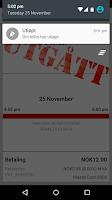 Screenshot of VKT Mobilbillett