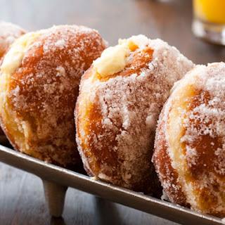 Vanilla Cream�Filled Doughnuts.