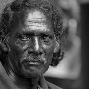 Trough The Poorty  by Kavindu Anthony - Black & White Portraits & People (  )