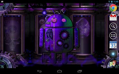 Steampunk Droid Fear Lab LWP v1.0.2