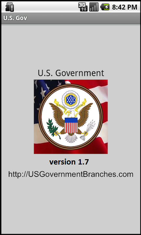 US Federal Government Branches- screenshot