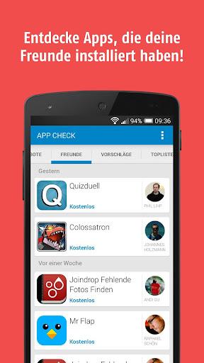 AppCheck - Apps deiner Freunde