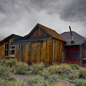 Bodie Old House by Patrick Flood - Buildings & Architecture Decaying & Abandoned ( canon, highway 395, gold mine, photosbyflood, old, cold, state park, ghost town, bodie, high sierra, old west, rustic, abandoned )
