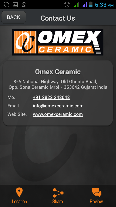 Omex Ceramic Digital WallTiles - screenshot