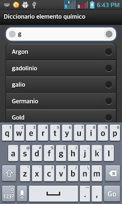 diccionario Quimica - screenshot