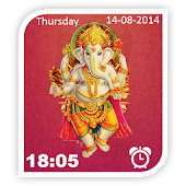 Digital Clock Ganesh LWP